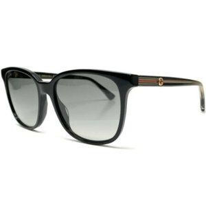 Gucci Women's Black and Grey Gradient Sunglasses!